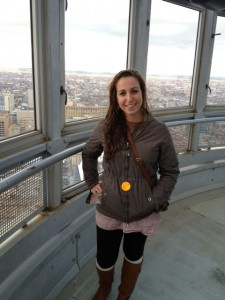 Mara Richman at an observation tower