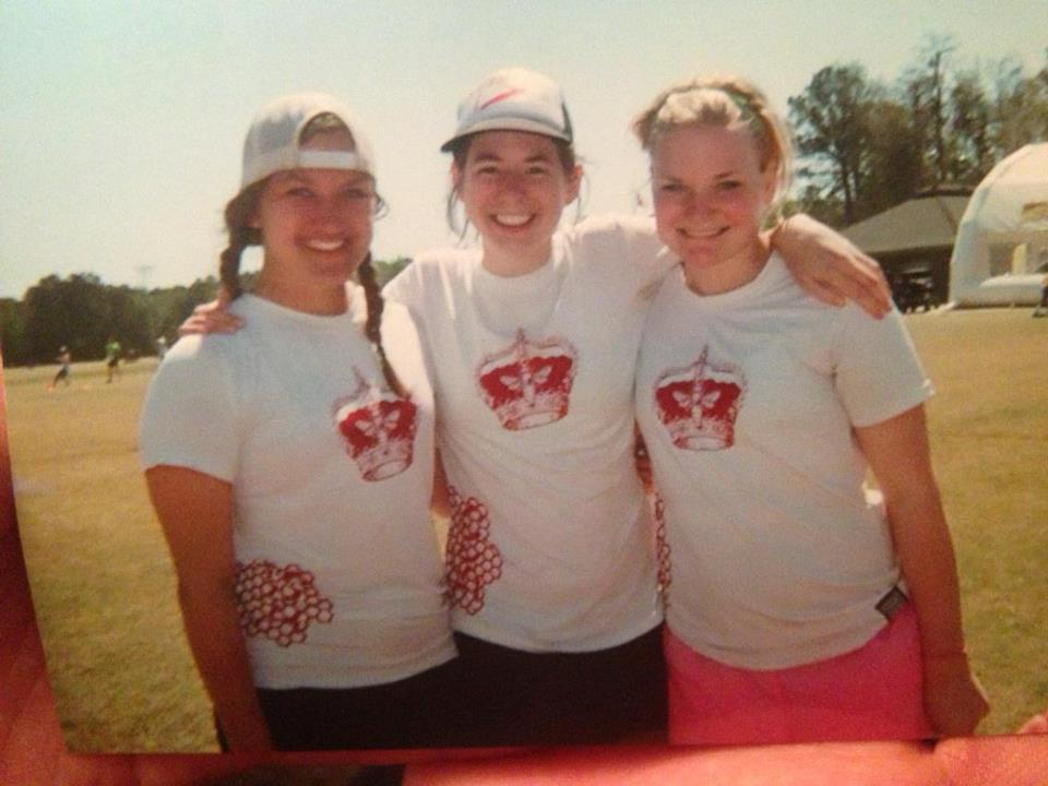 This years Womens Frisbee captains: Brittany Dooley 14, Michelle Keohane 13, and Christina Lehman 14