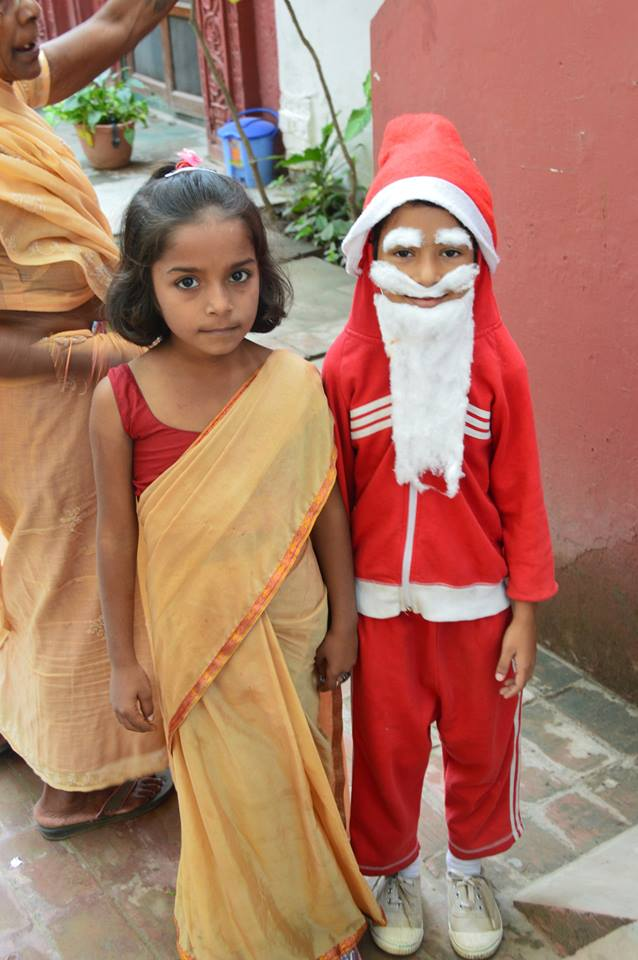 Santa and Friend