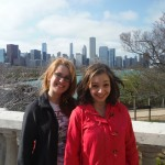 Alexandra Smith smiling with a friend in Chicago