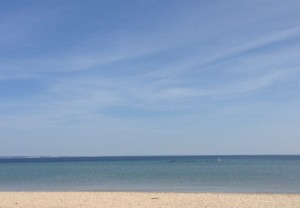 Lake Michigan and a blue sky