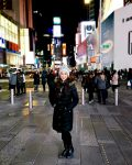 Lauren Landman in Times Square