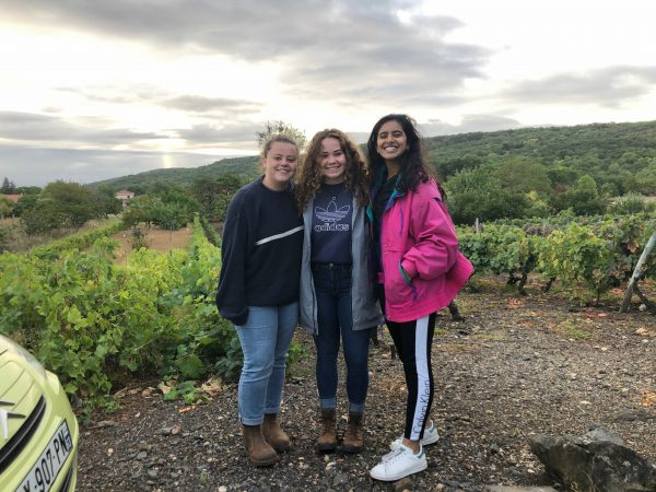 three students on study abroad