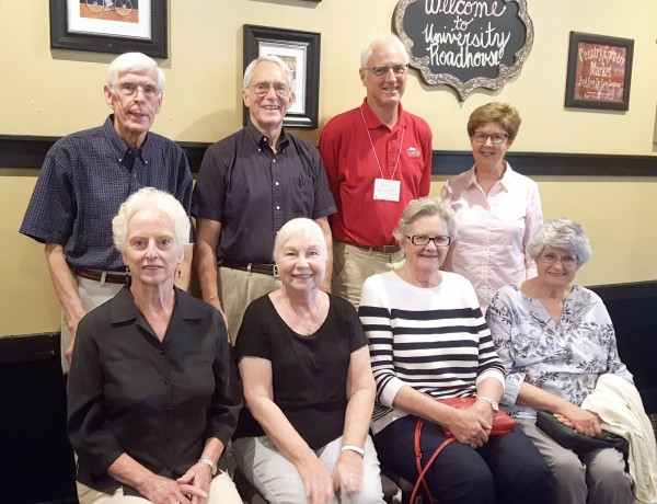 Emeritus Club Board 2016-2017 Pictured top row: George Macleod '60, Bill Venema '59, Steve Turner '63, Connie (Forsyth) Micklin '62 Bottom row: Mary (Murch) McLean '61, Sally (Lange) Padley '62, Kay (Machin) Howson '62, Ilse Gebhard '62. Not pictured: Charles Glatt '62, Al Gemrich '60.