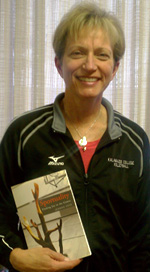 Jeanne Hess with her book