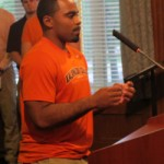 Erran Briggs '14 speaks about stadium improvements.