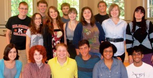 2012-13 K student chaplains at Stetson Chapel