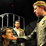 Stefano Cagnato, Rudi Goddard, and Manuel Garcia in the Festival Playhouse production of Shakespeare''s TITUS ANDRONICUS