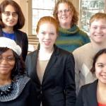 Top row (l-r), Babli Sinha, Elizabeth Candido '00; middle row, Marjorie Toshach '13, Craig Isser '13; bottom row, Gabrielle Clay '13, Natalie Cherne '15.