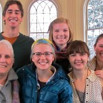 Being glad, not SAD, are (top row, l-r) Morgan Walker '15, Grace Manger '15, (bottom row) Dr. Pat Ponto, Allison Kennedy '15, Katie Ring '15, and Kira Sandiford '15.