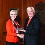 Charlotte Hall ''66 will take the gavel at the June 2013 meeting of the K board of trustees from current Board Chair Don Parfet. Hall becomes the College''s first female board chair in its 180-year history.