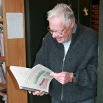 Dan Van Horn reading a book