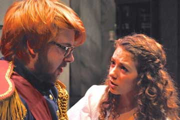 "Alexander Ross and Emma Franzel rehearse for ""A Dream Play"""