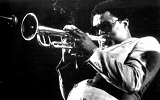 Freddie Hubbard playing trumpet