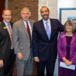"(From Left) KPS Superintendent Michael F. Rice, K Provost Michael McDonald, ""Promise Me"" Campaign Co-Chair and President of First National Bank of Michigan Larry Lueth, CIS National President Dan Cardinali, CIS of Kalamazoo Executive Director Pam Kingery, and WMU President John Dunn."