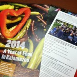 """A Year of Food in Kalamazoo"" wall calendar is only $12 and only at the People''''s Food Coop in Kalamazoo!"