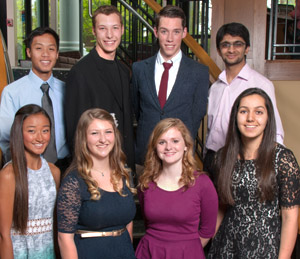 Eight Kalamazoo College Heyl Scholars
