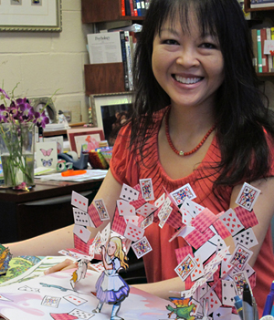 Kalamazoo College Psychology Professor Siu-Lan Tan in her office