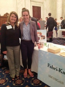 Skylar Young and Fabri-Kal Marketing Manager Emily Ewing