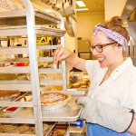 Pie maker Lisa Ludwinski '06 in her Sister Pie kitchen in Detroit. (Metro Times photo)
