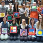 Students in the Young Adult Program present artwork at Kalamazoo College
