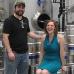 Trace Redmond and Eeva Sharp at Roak Brewing Company