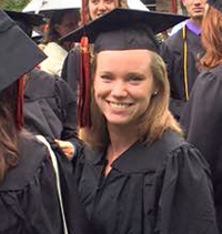 Kalamazoo College alumna Hannah Olsen at graduation