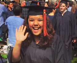 Kalamazoo College alumna Natalie Cherne at graduation