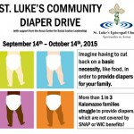 St. Luke's Community Diaper Drive Schedule