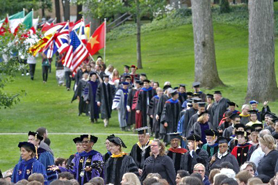 Kalamazoo College faculty participate in Convocation