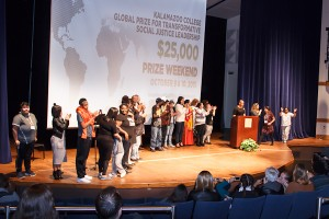 Global Prize Social Justice Leaders on stage
