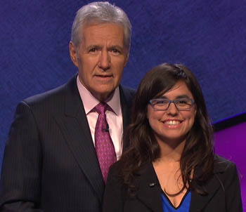 Alex Trebek and Theresa Tejada