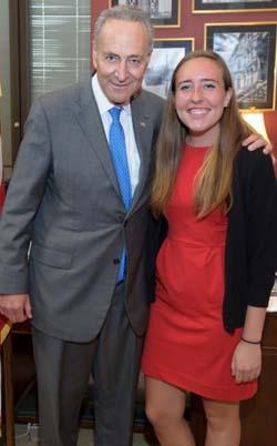 Senator Charles Schumer (D-NY) and Katie Clark