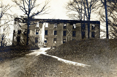 The Men's Dorm the morning after the fire