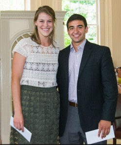 Olivia Cares'16 and Christopher Monsour '16 Photo by Anthony Dugal Photography