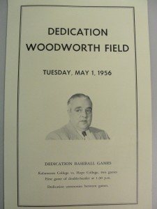Woodworth Field dedication program 1