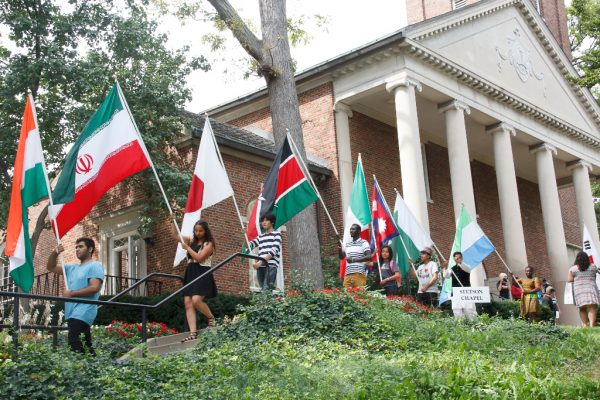 Convocation International Flag Ceremony at Kalamazoo College
