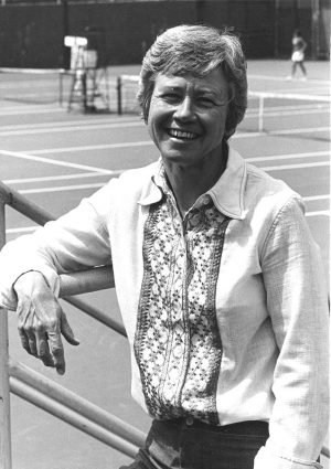 Legacy Tish Loveless at a tennis court