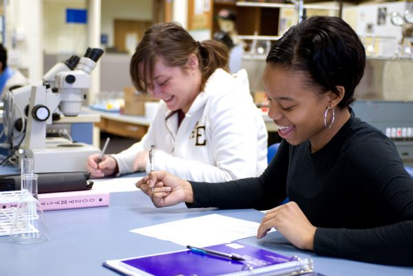 Two Students in Science lab for Inclusive Science and Math story