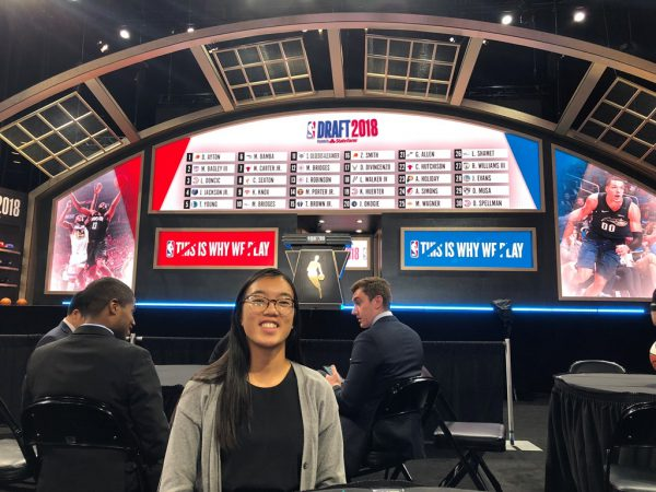 Amanda Moss Attending NBA Draft through her NBA Internship