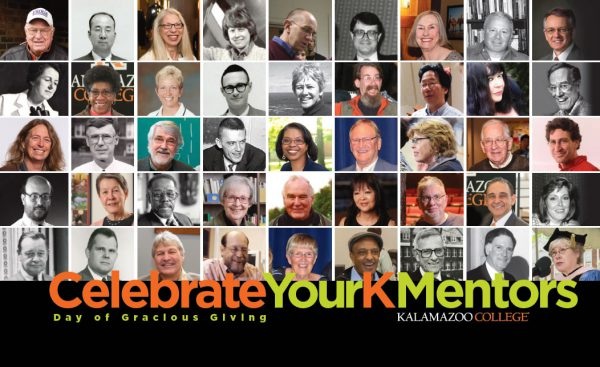 Day of Gracious Giving Card Says Celebrate Your K Mentors