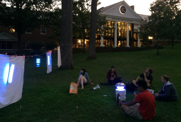 National Moth Week blacklighting at Quad