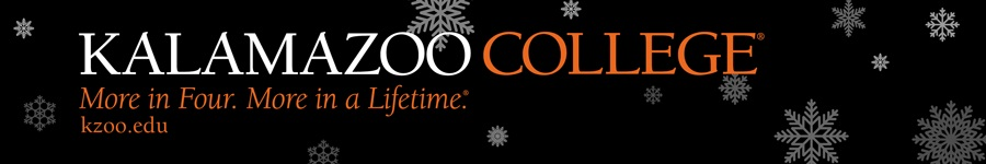 Happy Holidays from Kalamazoo College 2019 banner
