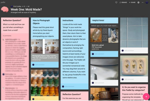 Padlet for Mold Made in Distance Learning