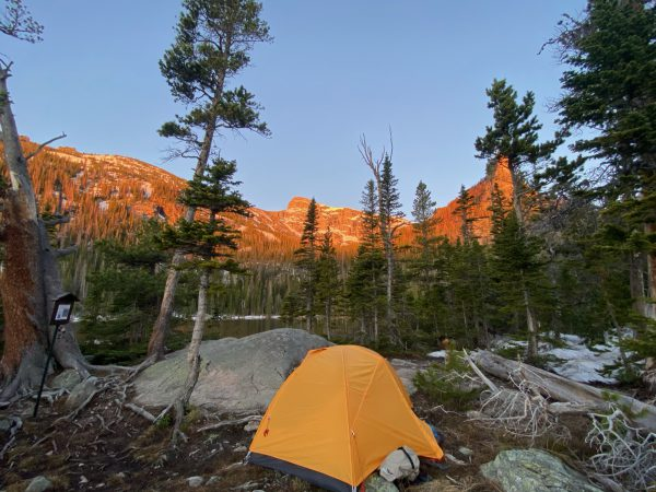 Campsite at Rocky Mountain National Park