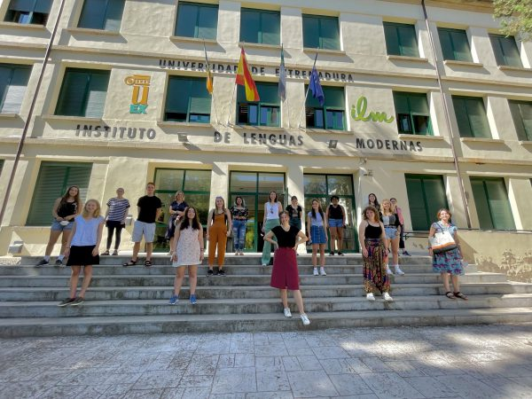 Kalamazoo College Students on Study Abroad at the Universidad de Extremadura in Caceras, Spain