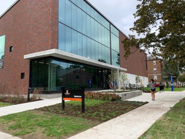 Exterior of Kalamazoo College natatorium