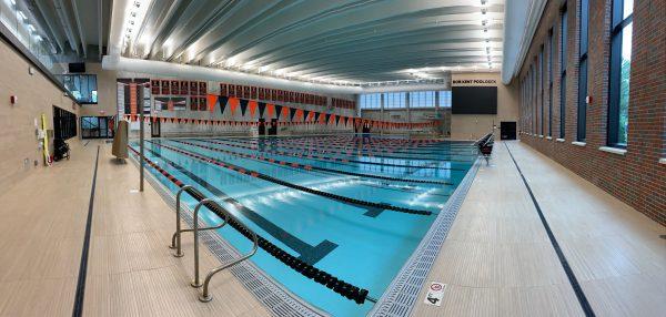 Pool Deck of Kalamazoo College's New Natatorium