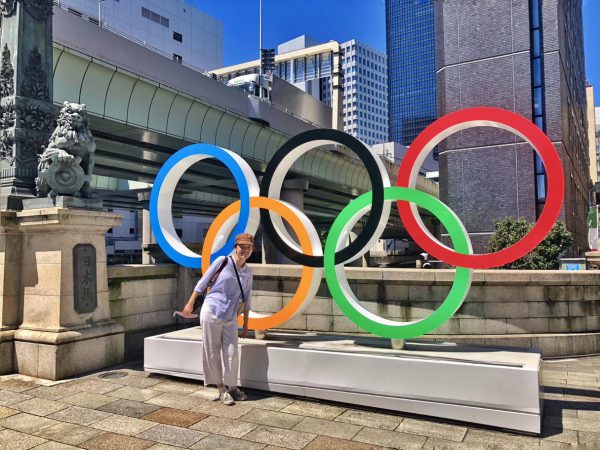 Uyen Trinh Next to the Olympics Rings
