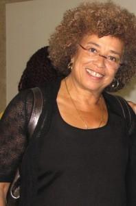 Angela Davis smiling